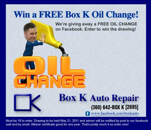 WIN A FREE OIL CHANGE!